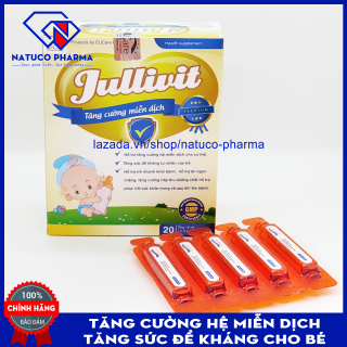 Siro Tăng Sức Đề Kháng Cho Bé - Tăng cường hệ miễn dịch JULLIVIT - Hộp 20 ống Chuẩn GMP Bộ Y Tế thumbnail