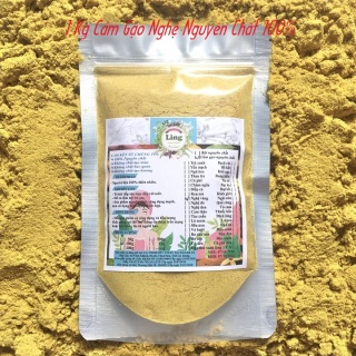Bột Cám gạo Nghệ 500g-1Kg có giấy VSATTP và ĐKKD nguyên chất thiên nhiên 100% dùng để đắp mặt đa công dụng thumbnail