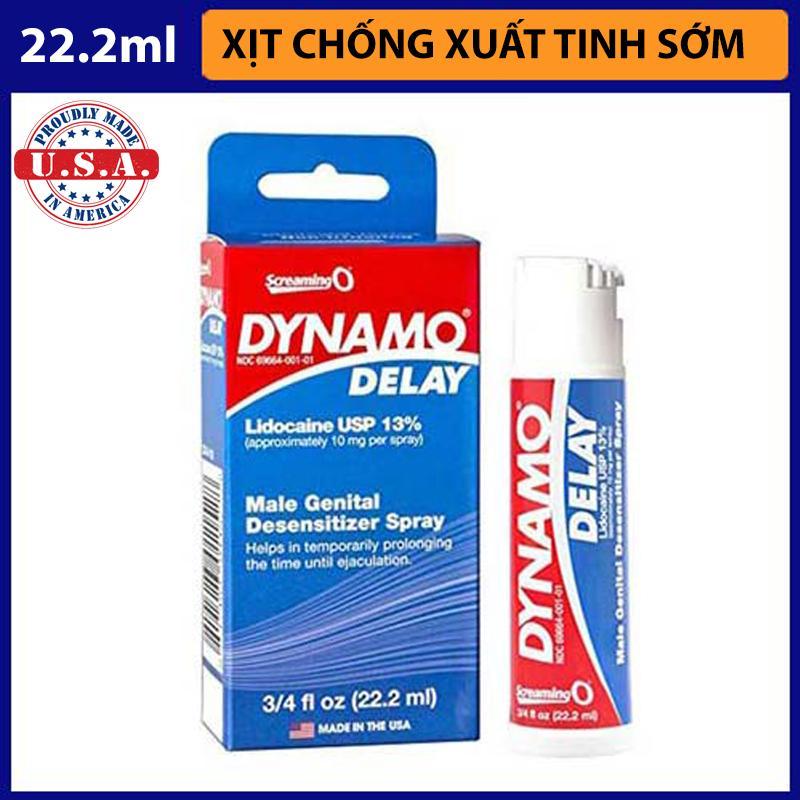 Chai xịt chống xuất tinh sơm Dynamo Delay [HÀNG MỸ] nhập khẩu