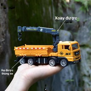 Xe đồ chơi mô hình, xe tải nâng hàng cho bé chất liệu nhựa an toàn, kích thước lớn thumbnail