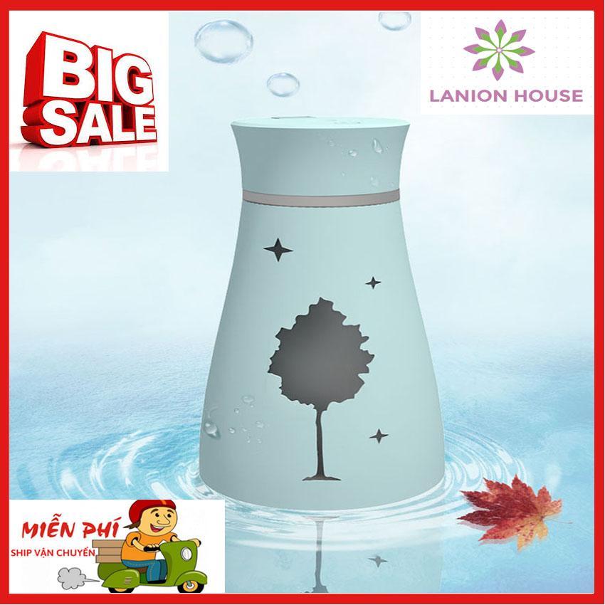Máy tạo độ ẩm mini, máy tạo độ ẩm không khí,máy tạo độ ẩm trong phòng, máy phun tinh dầu, máy phun sương, máy khuếch tán tinh dầu, máy phun sương tạo ẩm khuếch tán tinh dầu kết hợp 3in1 B 01 - LANION HOUSE