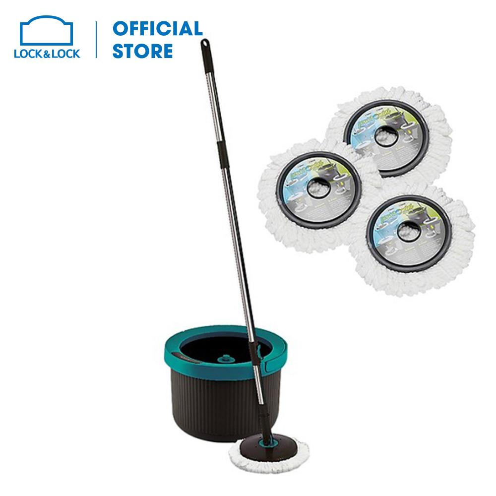 HPP345S2 - Bộ Cây Lau Nhà 360 Độ Mini Twister Màu xanh+ xám + 2 Bông lau. Thiết kế tiện lợi, nhựa PP cao cấp. Hàng chính hãng