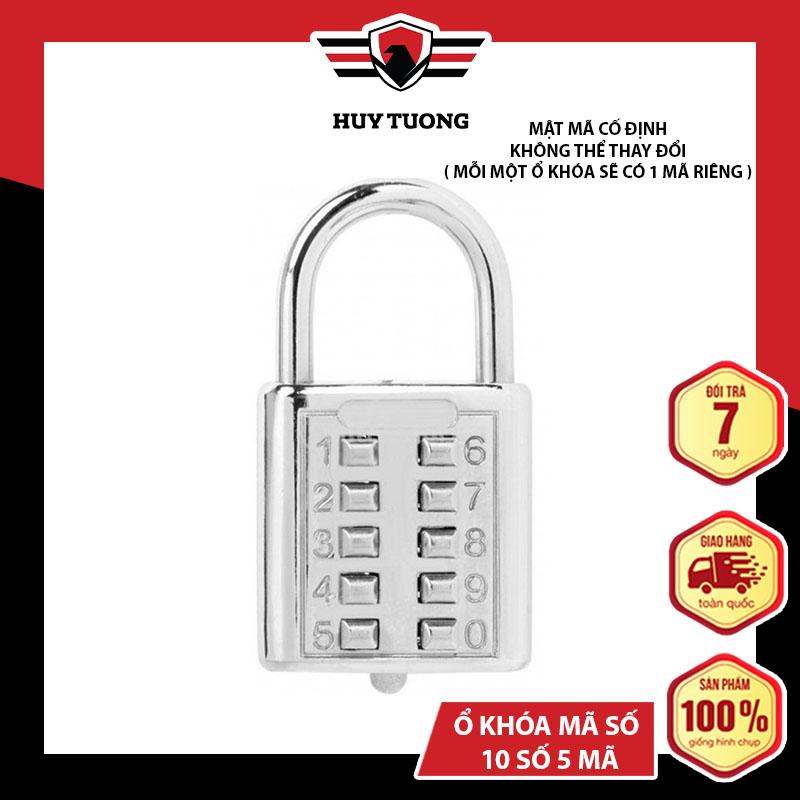 Ổ khoá mã số ( loại lớn 10 sô 5 mã ) CJSJ, chắc chắn dễ sử dụng, thiết kế tinh tế   - Huy Tưởng