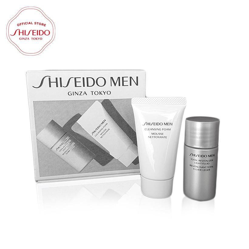Bộ sản phẩm làm sạch, dưỡng ẩm và chống lão hóa cho nam Shiseido Men Skin Revitalizer Set