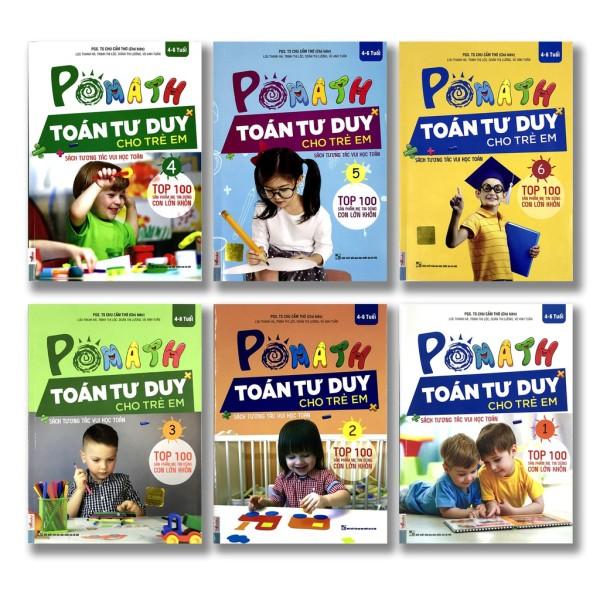 Mua Sách - POMath - Toán tư duy cho trẻ em (Bộ 6 cuốn lẻ tùy chọn) Tặng Bookmark - Tập 6