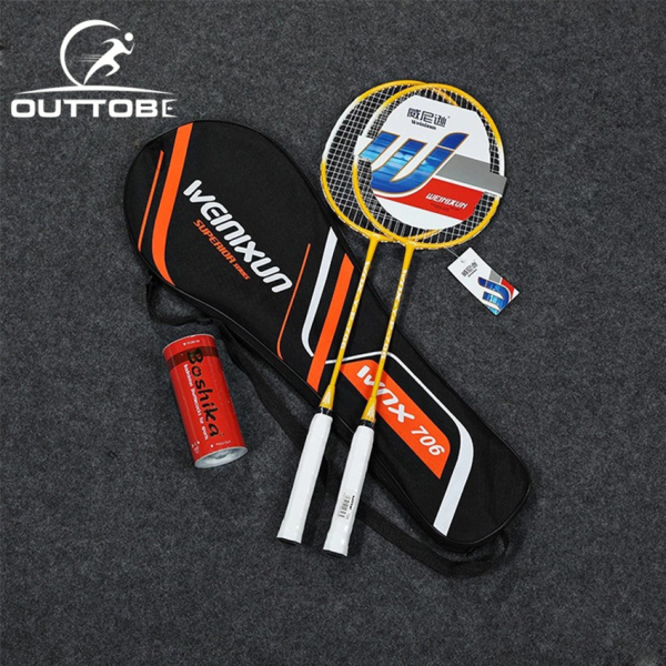 Bảng giá Outtobe 2PCS Badminton Racket Set-Professional Carbon Fiber Badminton Racket with 2 shuttlecocks and Carrying Bag for Beginner and Family Leisure