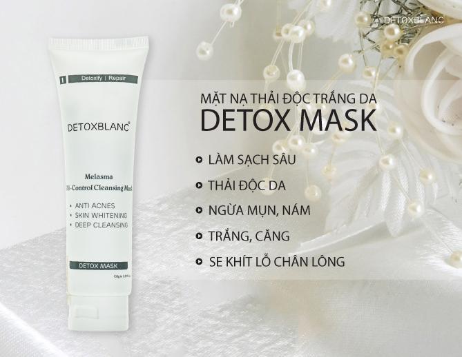 Mặt nạ sủi bọt thải độc trắng da công nghệ than hoạt tính Detox BlanC Mask 150ml nhập khẩu