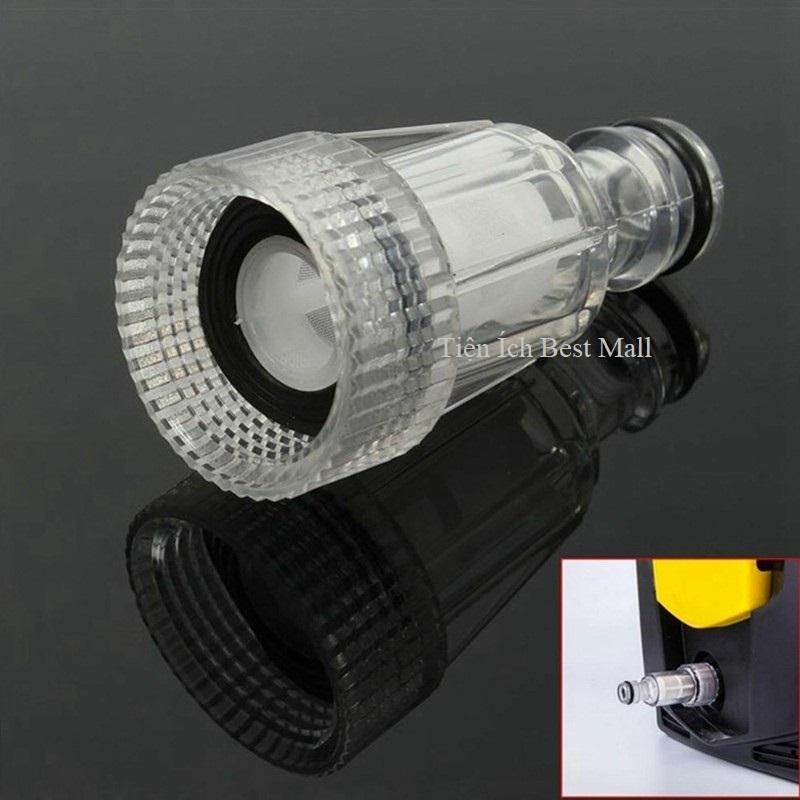Cút lọc nước máy rửa xe cao áp, đầu lọc nước đầu vào máy rửa xe gia đình áp suất cao, đầu nối lọc nước của máy bơm rửa xe C0004-18