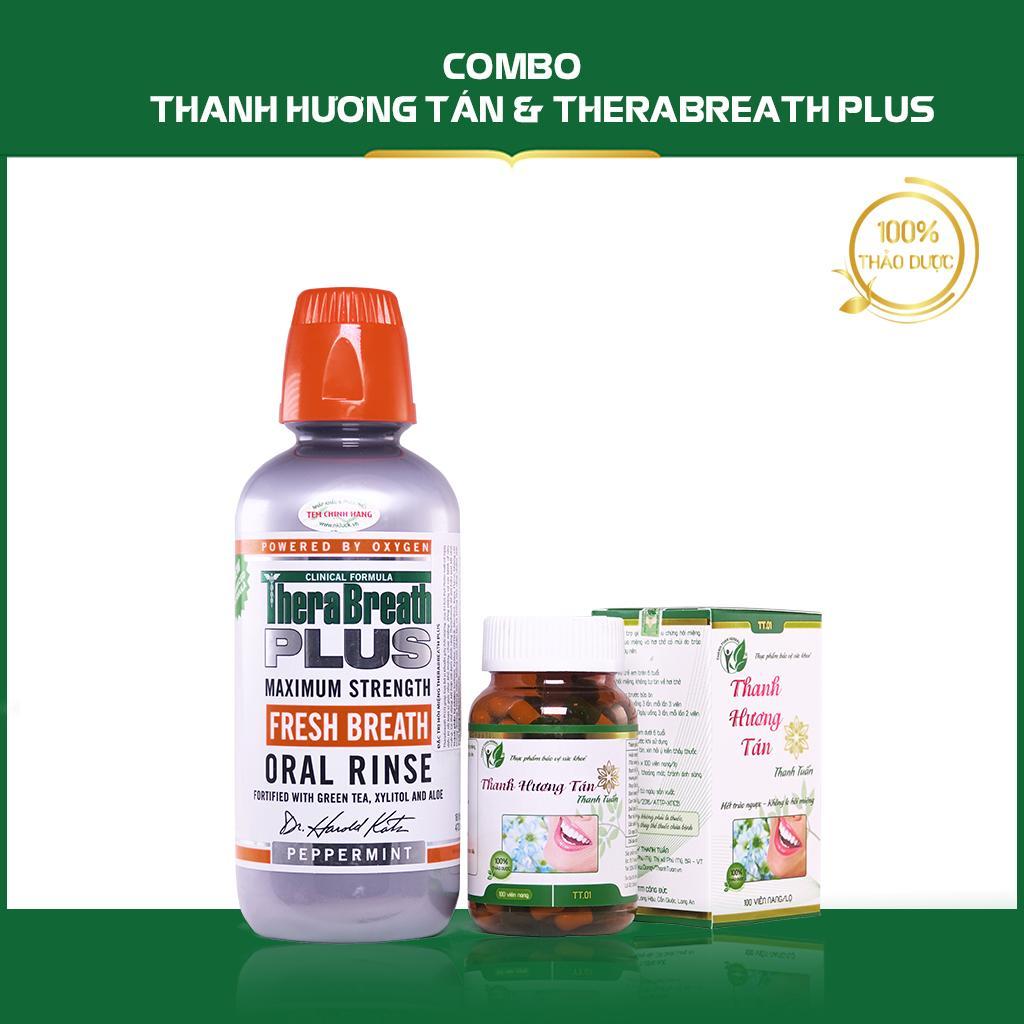 Combo Điều Trị Bệnh Hôi Miệng Thanh Hương Tán & Nước Súc Miệng Therabreath Plus nhập khẩu