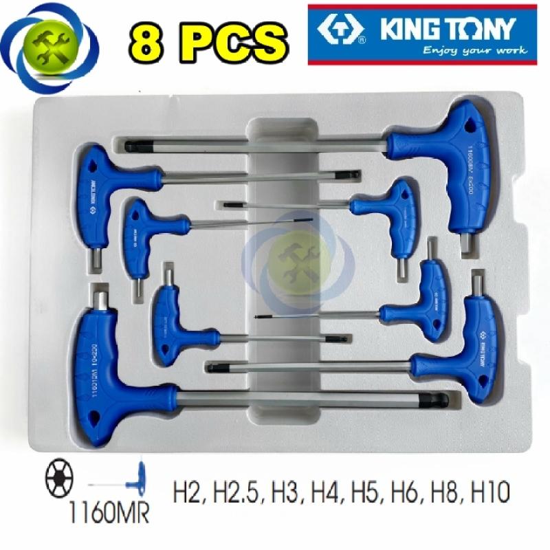 Bộ lúc giác chữ T đầu bi Kingtony 22108MR 8 cây 2-10mm