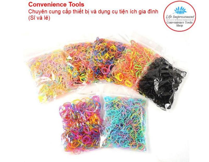 Set 500 Dây Thun Cột Tóc Nhiều Màu tốt nhất