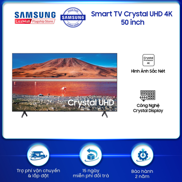 Smart TV Samsung Crystal UHD 4K 50 inch TU7000 2020 - TV