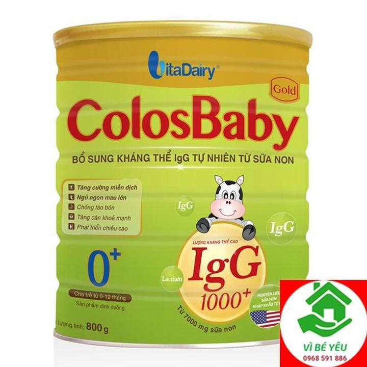 Sữa Non Colosbaby Gold 1000lgG 0+ 800g Date t112021