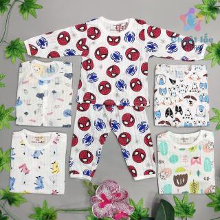 Bộ quần áo trẻ em dài tay, đồ bộ cotton giấy cho bé trai bé gái từ 4kg đến 22kg hàng VN [Chuột Lắc Store] thumbnail