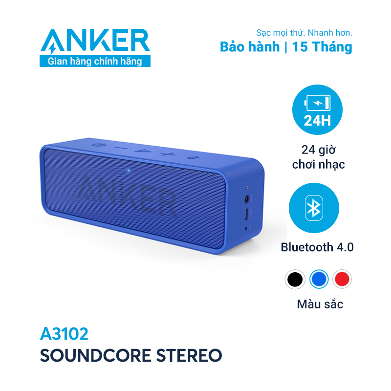 Loa bluetooth ANKER SoundCore Stereo 6W - A3102