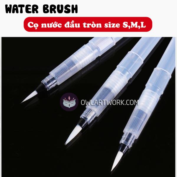 Mua Cọ nước thân ngắn, thân dài ĐÀU TRÒN WaterBrush size S-M-L