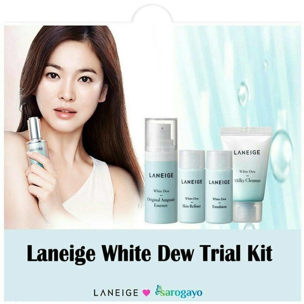 Bộ Kit Dưỡng Trắng, Dưỡng Ẩm Da Laneige White Dew Trial Kit 4 Item tốt nhất