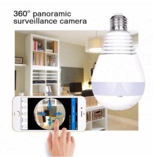 Camera quan sát 360 hình bóng đèn Wifi Panorama Camera Aturos B13LN, Lightning 130W, kết nối không dây - Hàng nhập khẩu thumbnail