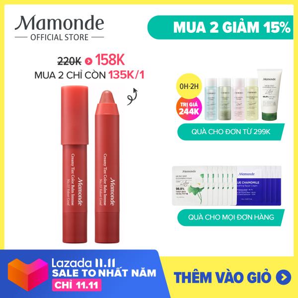 [Mamonde] Son bút chì 3 in 1 cho bờ môi mềm mượt Mamonde Creamy Tint Color Balm Intense 2.5G giá rẻ