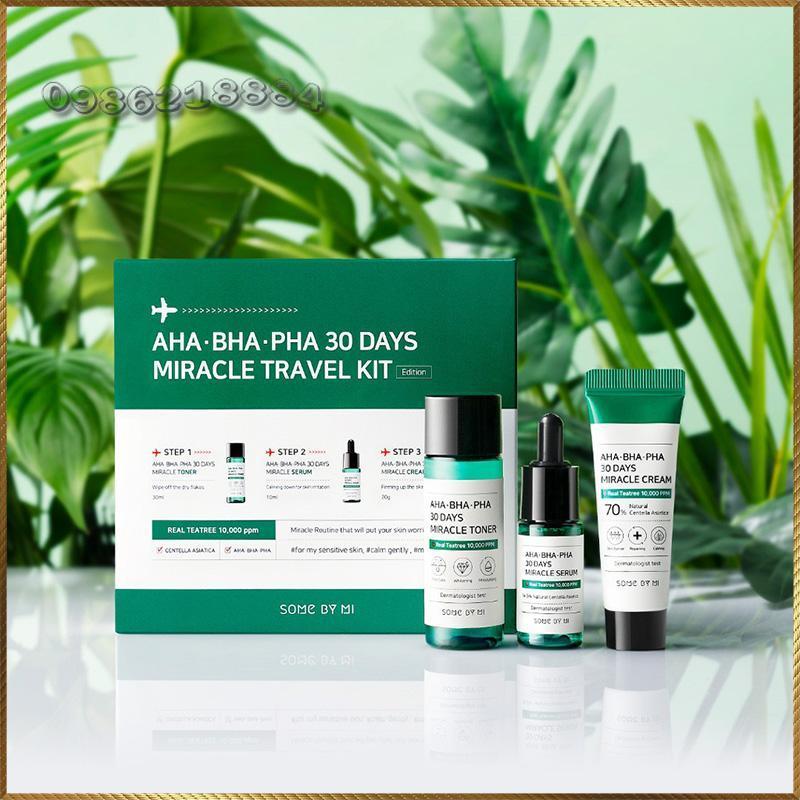 Set mini 3 món trị mụn Some By Mi AHA- BHA-PHA 30 Days Miracle Travel Kit MTK3 giá rẻ