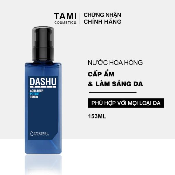 Nước hoa hồng DASHU Aqua Deep Potent Toner 153ml nước cân bằng da chăm sóc và dưỡng ẩm da TM-TN01