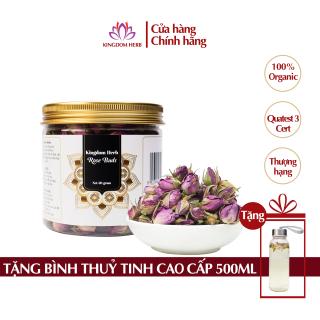 Trà hoa hồng sấy khô Kingdom Iran chính hãng, nụ hoa hồng khô thượng hạng hộp 50 gram thumbnail