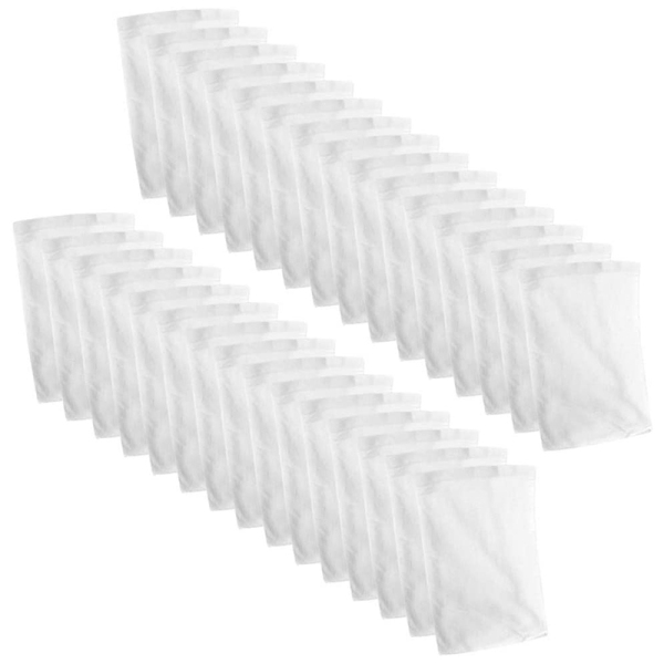 Swimming Pool Plastic Skimmer Replacement Basket Filter Bag, Including 30 PCS Skimmer Socks