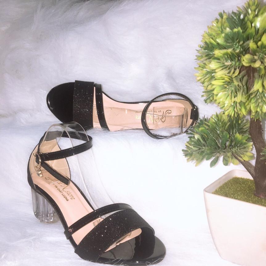 sandal Gót Trong 5p Quay Ánh Kim giá rẻ