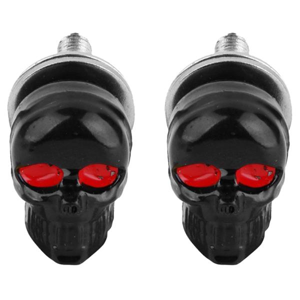 Giá bán 1 Pair Motorcycle Skull Number Plate Frame Screws Fitting Screw Black