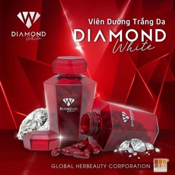 HÀNG CHÍNH HÃNG Viên uống trắng da Ngọc Trinh Beauty Diamond White, Trắng da chống nắng, trị nám tàn nhang, KHUYẾN MẠI MUA 3 TẶNG 2 SỮA ONG CHÚA giá rẻ