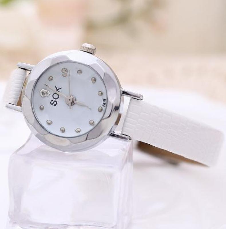 Đồng hồ nữ hàn quốc SOK mặt kính khối 3d YH1