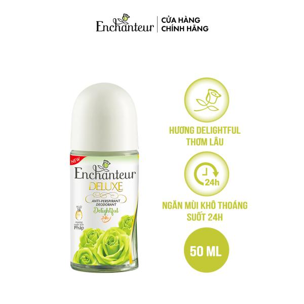 Lăn khử mùi nước hoa Enchanteur Delightful 50ml/ Chai