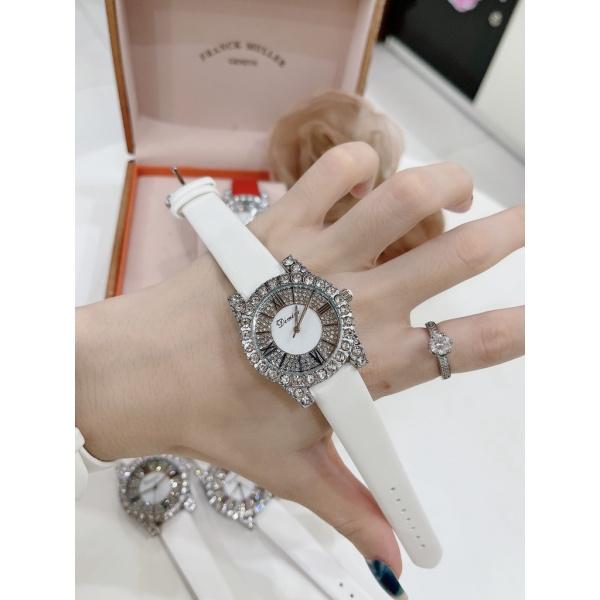 Đồng hồ DIMINI dây da mềm thiết kế đính đá kim cương nhân tạo sang trọng đeo cực sáng tay và nổi bật hình ảnh video tựụp