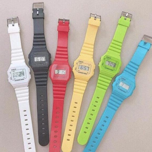 (Có hộp) Đồng hồ điện tử nam - nữ dây silicon huyền thoại - ODH0019 Nhật Bản