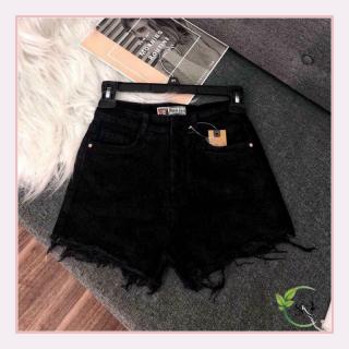 Quần short tua rua nữ màu đen W402 chất liệu kaki đủ size SML mặc đi chơi dạo phố thumbnail