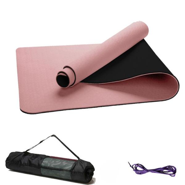 Thảm Tập Yoga TPE 6mm 2 lớp Viva Sport Ép Nhiệt Siêu Bền (Kèm túi + Dây buộc)