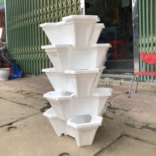 Chậu Trồng Hoa 5 Tầng Nhựa Việt Nhật Siêu Bền,Siêu Đẹp