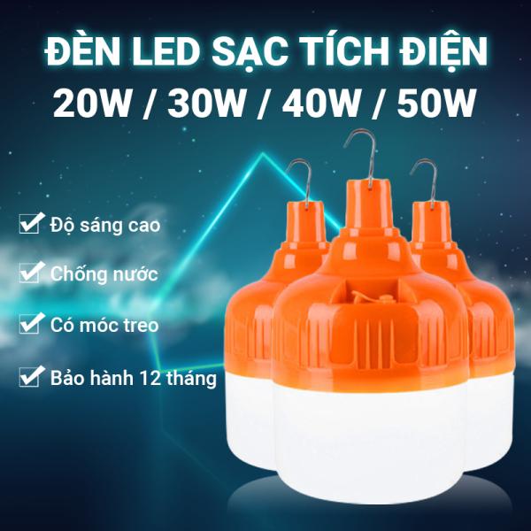 Bóng đèn LED siêu sáng Q021 sạc tích điện có móc treo tiện lợi, hao phí thấp, tiết kiệm điện năng, chất liệu nhựa cao cấp độ bền cao, tuổi thọ sử dụng lâu