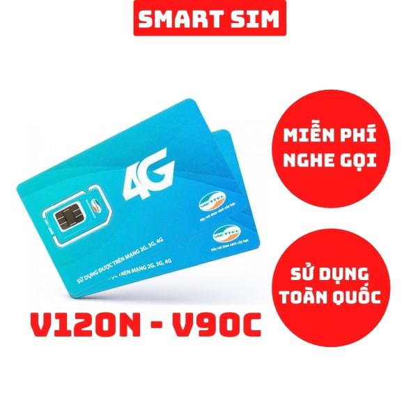 Sim 4G Viettel V120N và V90C tặng 120GB/Tháng và 30GB/Tháng, miễn phí gọi nội mạng và ngoại mạng - Smart Sim HC