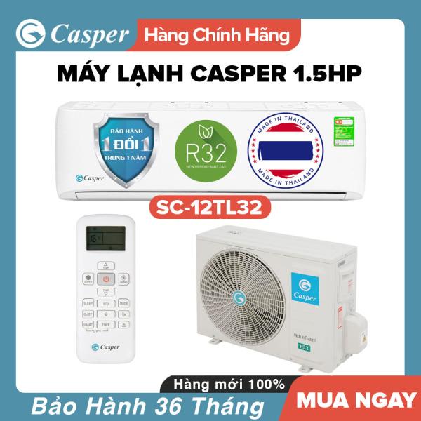 Bảng giá Máy Lạnh Casper 1.5HP - Model SC-12TL32 (Trắng) Dưới 20m2, Công Suất 12.000BTU, Gas R32, Đổi mới 1 năm, Nhập khẩu Thái Lan, Máy Lạnh Giá Rẻ Chất Lượng - Bảo Hành 3 Năm Điện máy Pico