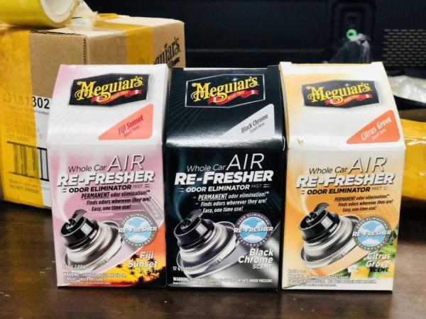 (CỰC HOT) Combo 3 lọ 3 mùi hương khử mùi điều hoà Meguiars-Hương Xmen đen-Hương Fiji nhiệt đới hồng-Hương cam-Otocare247
