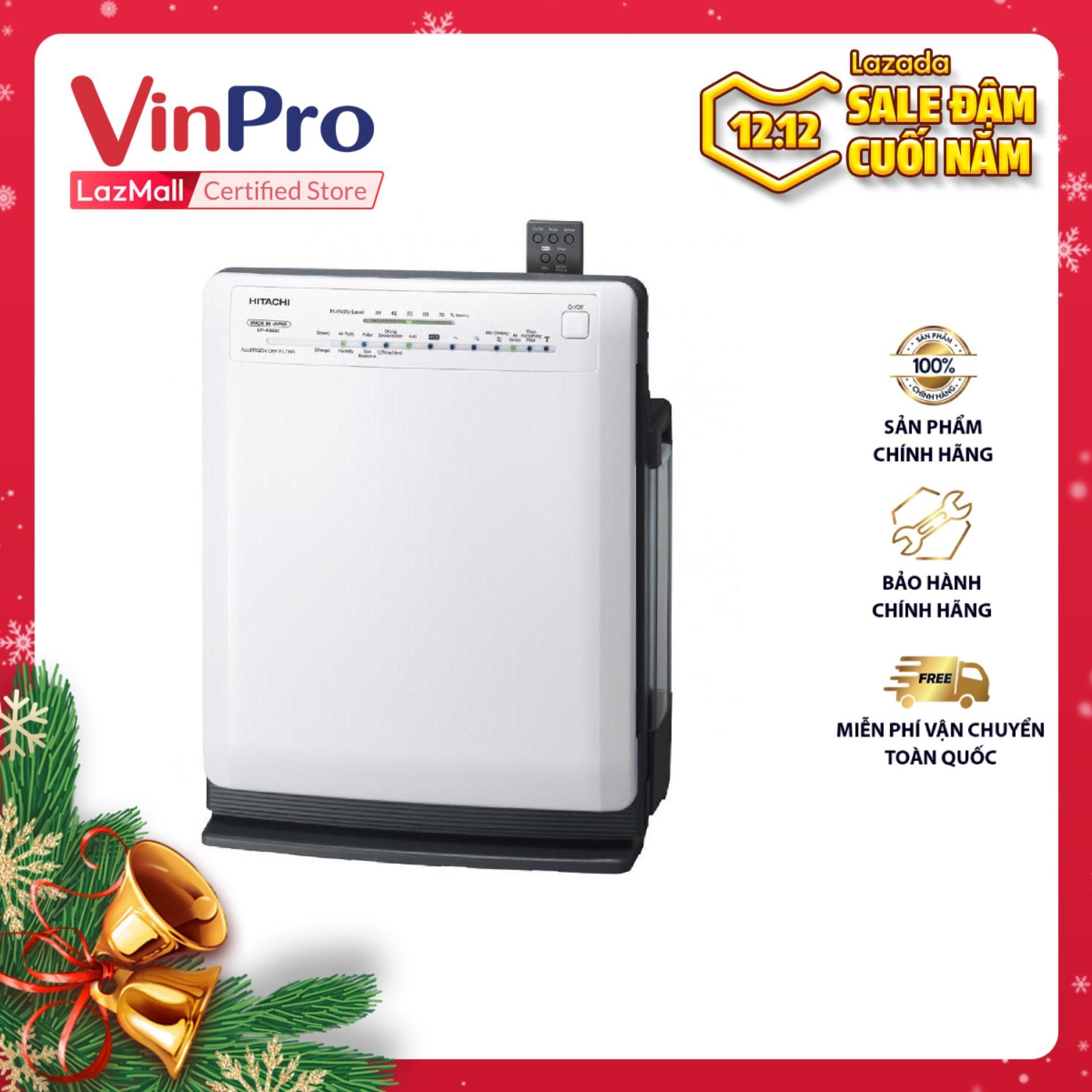 Bảng giá Máy lọc không khí Hitachi EP-P50J - Hàng chính hãng - Công suất tạo ẩm 520ml/h, cảm biến mùi và độ ẩm, bộ lọc khử mùi chống dị ứng