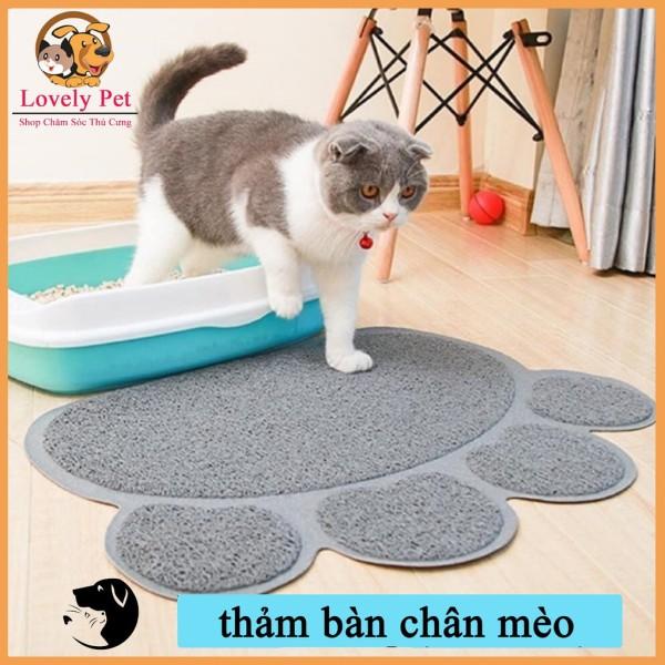 [HCM]Thảm lót vệ sinh chống rơi cát cho chó mèo hình bàn chân