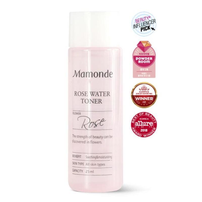 [Hàng Auth] [Best Seller] Nước Hoa Hồng Mamonde Rose Water Toner Không Cồn Cho Mọi Loại Da 25ml cao cấp