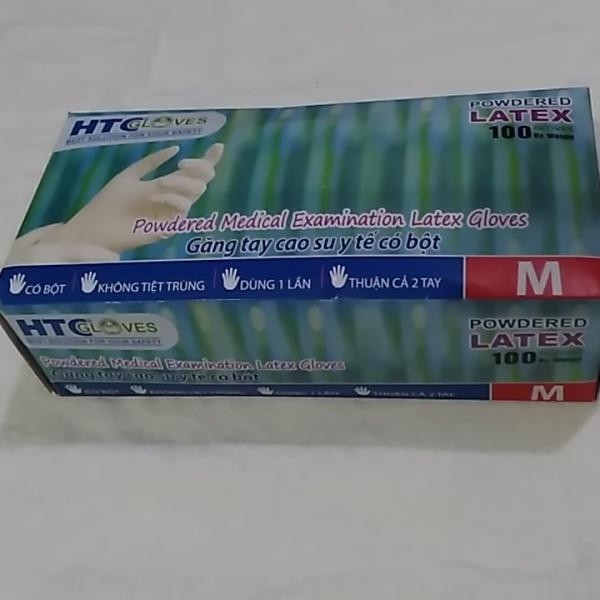 Găng tay cao su y tế có bột HTCglove