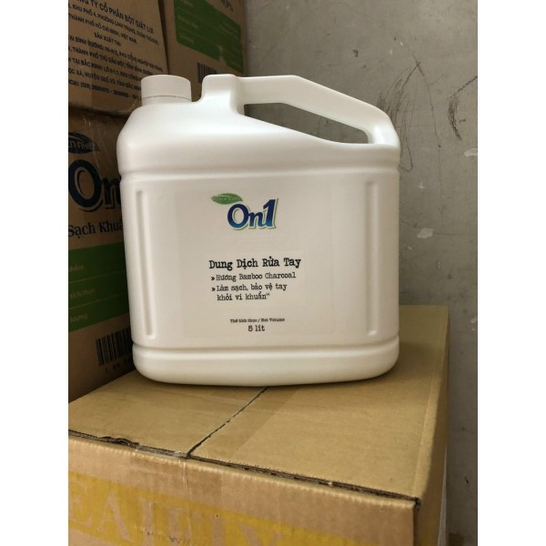 Nước Rửa Tay Khô On1 Sạch Khuẩn đến 99% -(Hương FRESH SAKURA)can 5L-chung tay chống dịch
