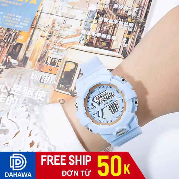 Nơi bán (Tặng kèm hộp) Đồng hồ thời trang unisex SP125, máy chạy điện tử mẫu mới, dây cao su siêu bền, phong cách Hàn Quốc, bảo hành 6 tháng