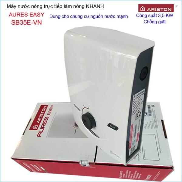 Bảng giá Máy nước nóng Ariston SB35E-VN, máy nước nóng trực tiếp cho chung cư Aures Easy  (không bơm) 3195055