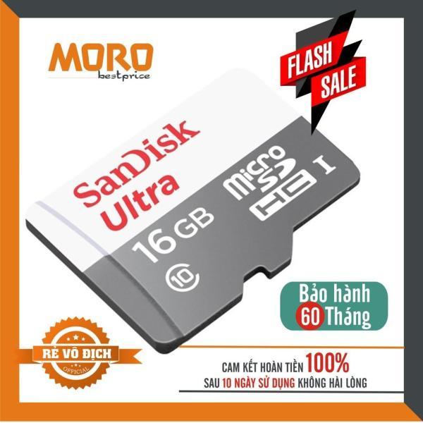 Thẻ Nhớ MicroSDHC SanDisk Ultra 16GB Upto 100MB/S 667x - Sản Phẩm chính hãng bảo hành 5 năm