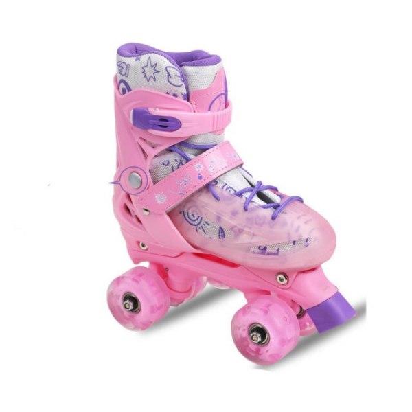 Mua Children Roller Skates Skating Shoes 2021 Girls Women Kids Sliding Quad Sneakers 4 Wheels 2 Row Line Outdoor Beginner Gym Sports